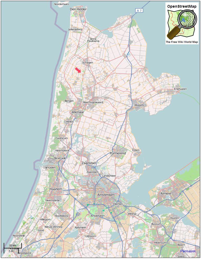 nordholland karte Karte von Nordholland   Ferienhausvermittlung Marita Oppermann